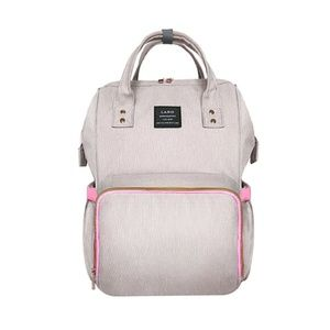 Pink/Gray Diaper Backpack